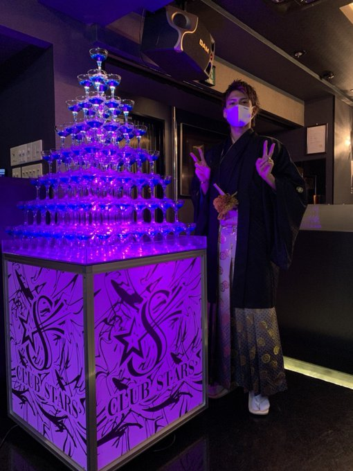 登咲愛喜シャンパンタワー